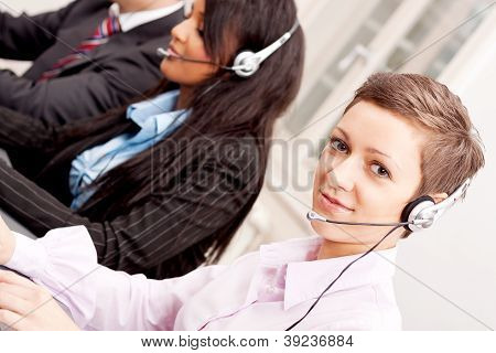 Callcenter Service Communication In Office