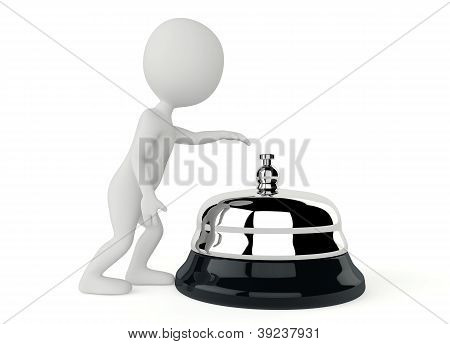 3D Humanoid Character With A Service Bell