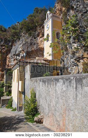 St. Maria della Grotta Sanctuary. Praia a Mare. Calabria. Italy.