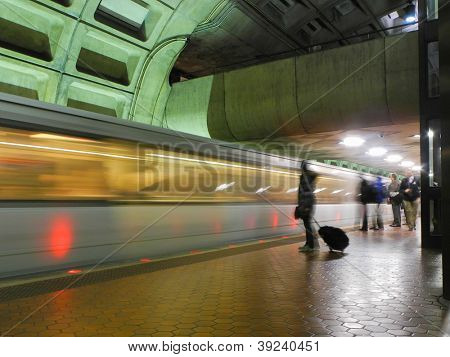 Washington DC, metro station interior