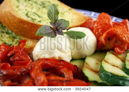 Chargrilled Vegetables With Cheese
