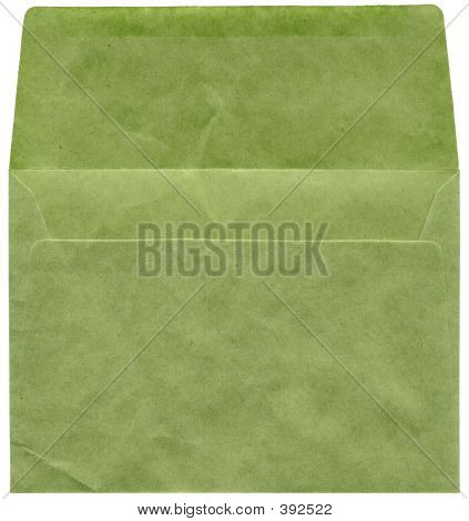 Retro Green Textured Envelope