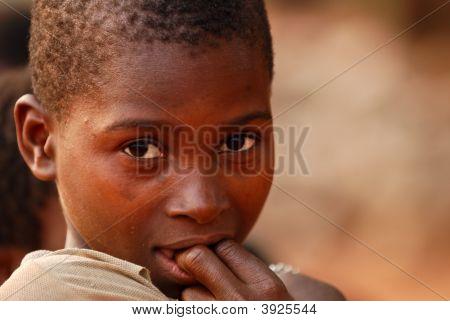 Shy African Boy