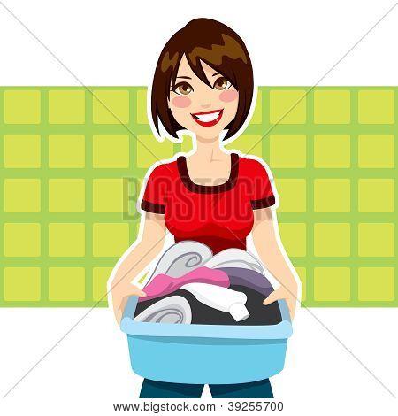 Tarefas de roupa de mulher
