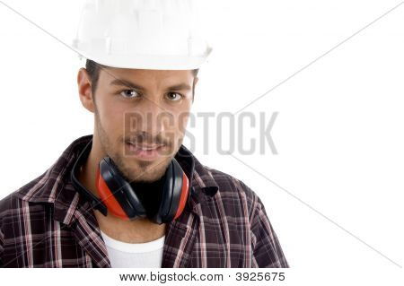 Architect Posing With Headphone