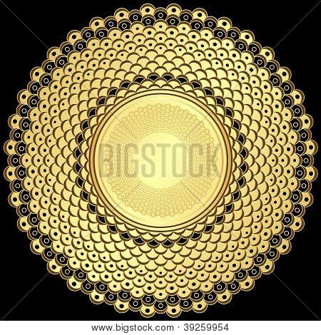 Vintage Gold Round Frame