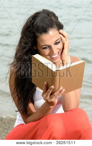 Dreamy Reader In Beach