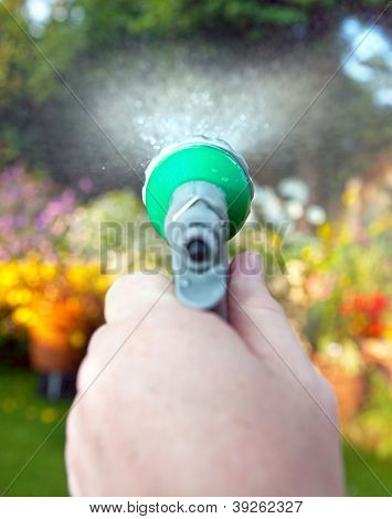 Watering Hose Pipe Garden Flowers
