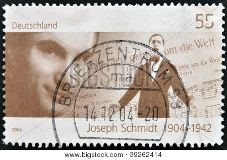 GERMANY - CIRCA 2004: A stamp printed in Germany shows Joseph Schmidt circa 2004