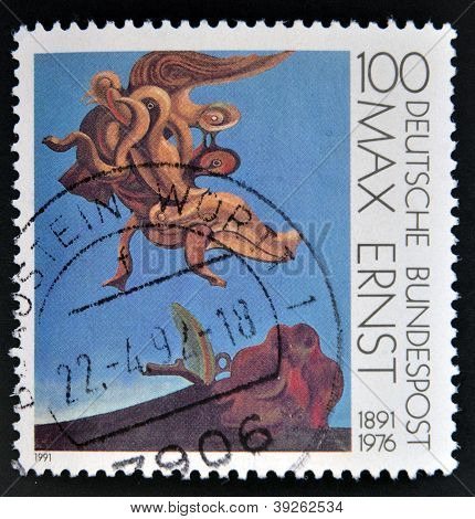GERMANY - CIRCA 1991: A stamp printed in Germany shows the work