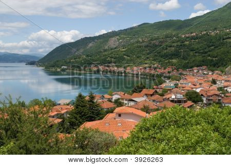 Ohrid Lake In The Spring Balkan Peninsula