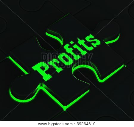 Profits Puzzle Showing Monetary Incomes