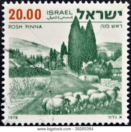 "ISRAEL - CIRCA 1978: A stamp printed in Israeli of the series ""Landscapes of Israel"" with inscriptio"