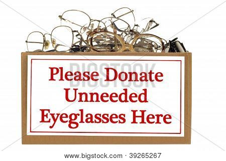 Eyeglass Donation Box
