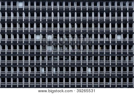 A gloomy office building facade