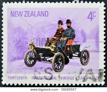 NEW ZEALAND - CIRCA 1972: A stamp printed in New Zealand dedicated to Thirteenth International Vinta