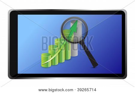 Business Graph And Tablet