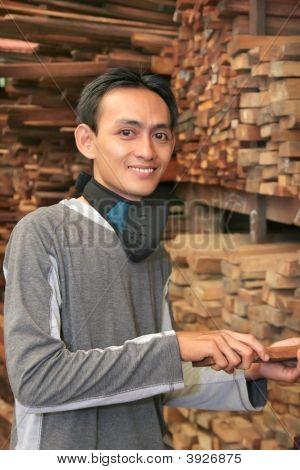 Man In Wood Industry