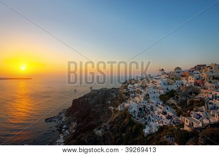 The famous sunset of Oia