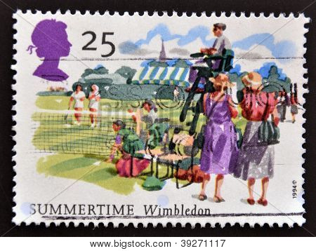 UNITED KINGDOM - CIRCA 1994: A stamp printed in Great Britain shows Wimbledon Summertime circa 1994