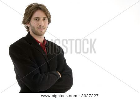 Young Man With Folded Hands
