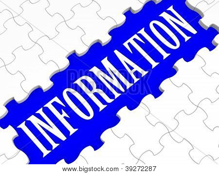 Information Puzzle Showing Help And Support