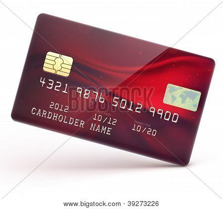 Cartão de crédito vermelho