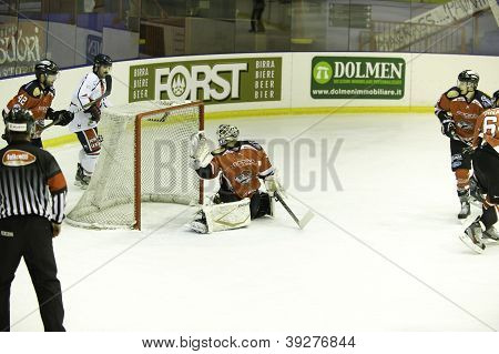 Puck in the net