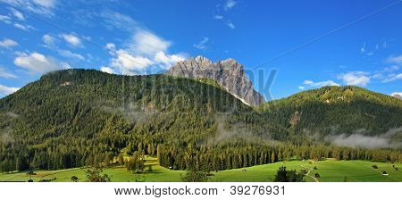 Beautiful Panorama Of The Dolomites - Sexten, Italy
