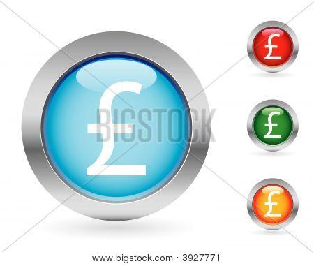 Glossy Money Button Set