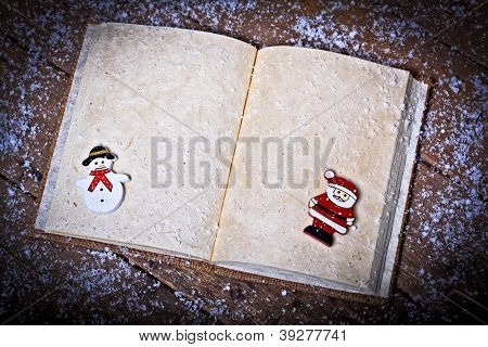traditional christmas wishlist book background