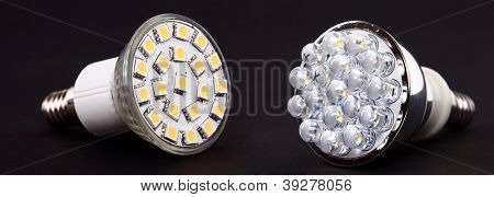 New Led Light isolated on black background
