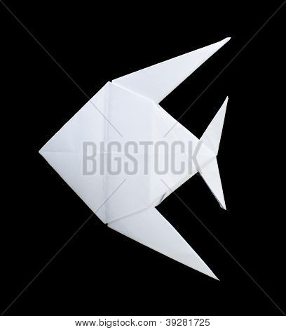 White Fish Folded Origami