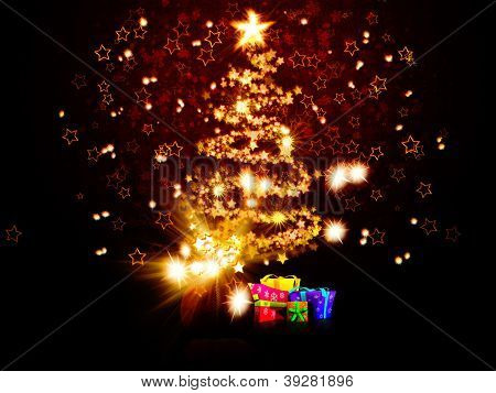 Magic Chrismas Tree Of Stars