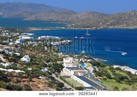Elounda bay at Crete island in Greece