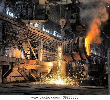 Smelting Of The Metal In The Foundry