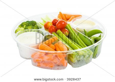 Veggies And Dip With Path