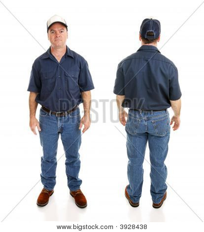 Blue Collar Man Two Views
