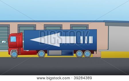 truck with warehouse