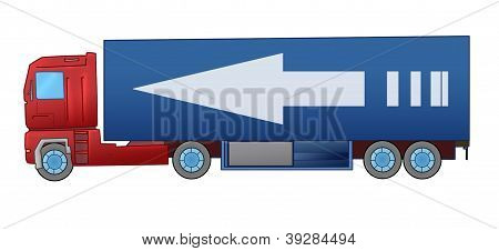 isolated truck