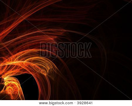 Fire Wings -  Fractal Background