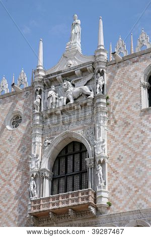 Palace Ducal - Detail Lion, Venice Italy