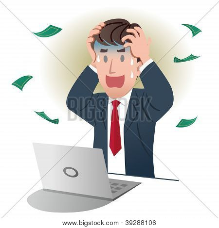 Shocking Businessman Holding The Head