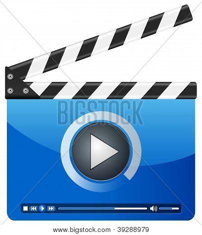 Media Player Clapper Board