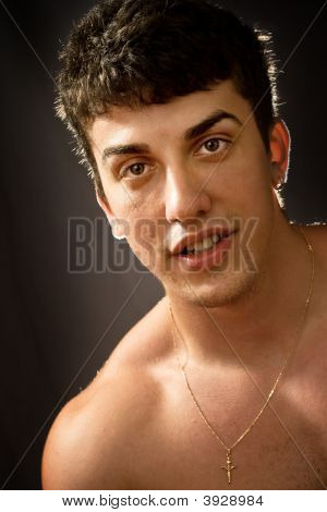 Portrait Of Handsome Caucasian Man