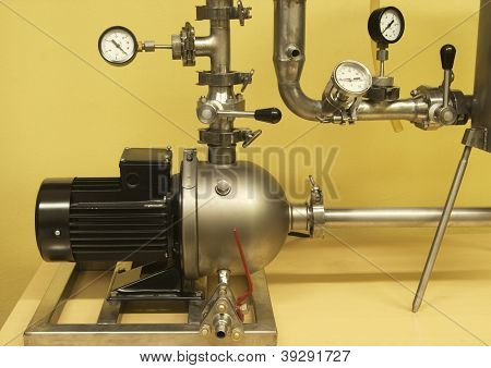 Pump, Connecting Pipes And Control Elements