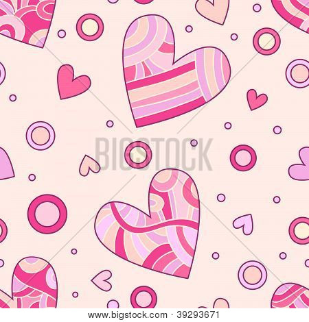 Romantic heart texture