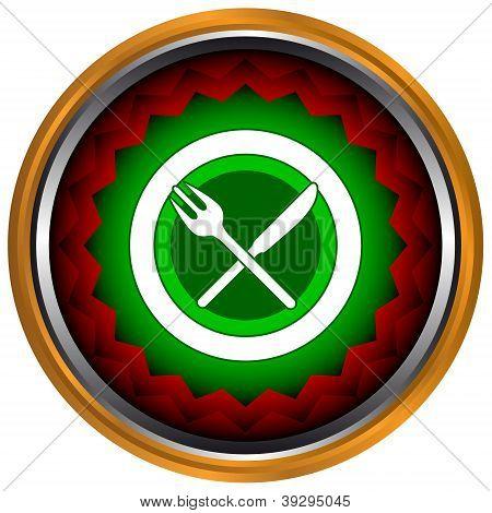 Ícone de almoço de negócios