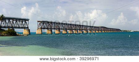 Panorama of Bahia Honda state park in Florida