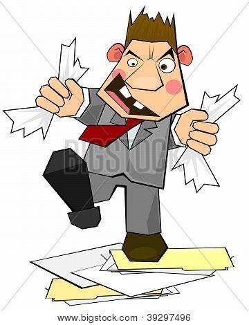 Clerk In Rage